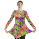 Colorful Mosaic Long Sleeve Tunic  View1