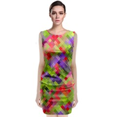 Colorful Mosaic Classic Sleeveless Midi Dress by DanaeStudio