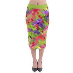 Colorful Mosaic Midi Pencil Skirt by DanaeStudio