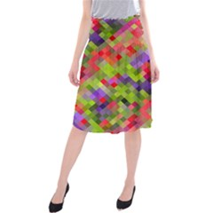 Colorful Mosaic Midi Beach Skirt by DanaeStudio