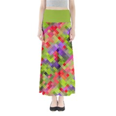 Colorful Mosaic Women s Maxi Skirt by DanaeStudio