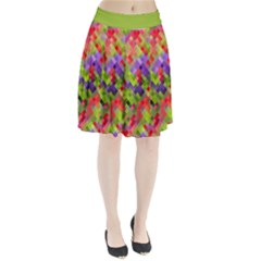 Colorful Mosaic Pleated Skirt by DanaeStudio