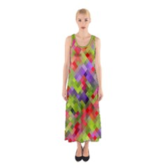 Colorful Mosaic Sleeveless Maxi Dress by DanaeStudio