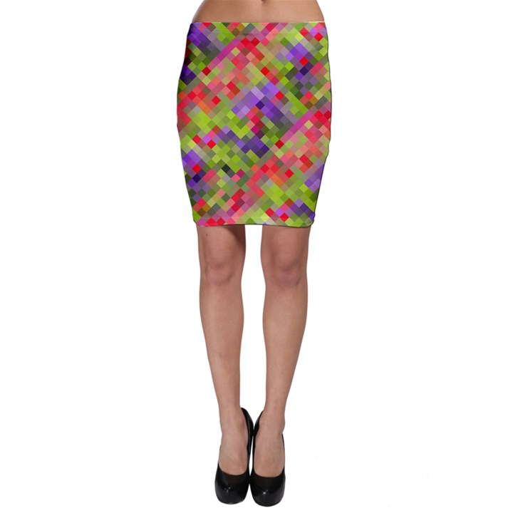 Colorful Mosaic Bodycon Skirt