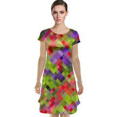 Colorful Mosaic Cap Sleeve Nightdress by DanaeStudio