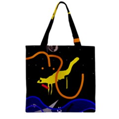 Crazy Dream Zipper Grocery Tote Bag by Valentinaart