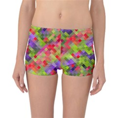 Colorful Mosaic Reversible Boyleg Bikini Bottoms by DanaeStudio