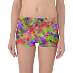 Colorful Mosaic Boyleg Bikini Bottoms by DanaeStudio