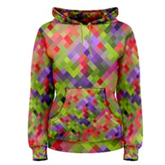 Colorful Mosaic Women s Pullover Hoodie by DanaeStudio