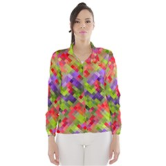 Colorful Mosaic Wind Breaker (women) by DanaeStudio