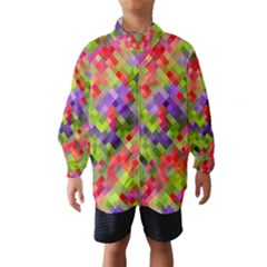 Colorful Mosaic Wind Breaker (kids)