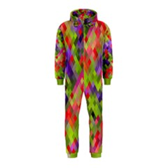 Colorful Mosaic Hooded Jumpsuit (kids) by DanaeStudio