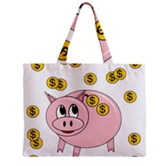 Piggy Bank  Mini Tote Bag by Valentinaart