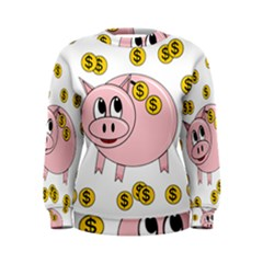 Piggy Bank  Women s Sweatshirt by Valentinaart