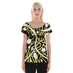 Yellow Movement Women s Cap Sleeve Top by Valentinaart