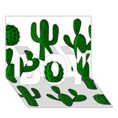 Cactuses Pattern Boy 3d Greeting Card (7x5)