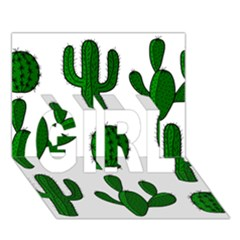 Cactuses Pattern Girl 3d Greeting Card (7x5) by Valentinaart
