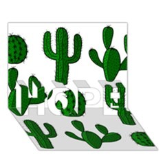 Cactuses Pattern Hope 3d Greeting Card (7x5) by Valentinaart