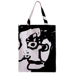 Old Man Zipper Classic Tote Bag by Valentinaart