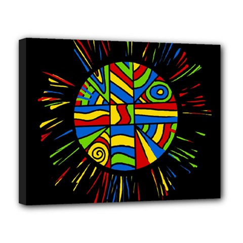 Colorful Bang Canvas 14  X 11  by Valentinaart