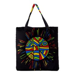 Colorful Bang Grocery Tote Bag by Valentinaart
