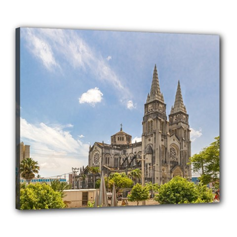 Metropolitan Cathedral Fortaleza Brazil Canvas 24  X 20  by dflcprints
