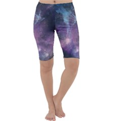 Blue Galaxy Cropped Leggings