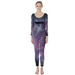 Blue Galaxy Long Sleeve Catsuit