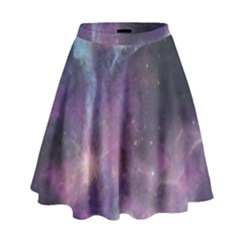 Blue Galaxy High Waist Skirt by DanaeStudio
