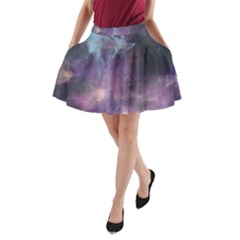 Blue Galaxy A Line Pocket Skirt by DanaeStudio