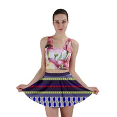 Colorful Retro Geometric Pattern Mini Skirt by DanaeStudio
