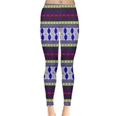 Colorful Retro Geometric Pattern Leggings  by DanaeStudio