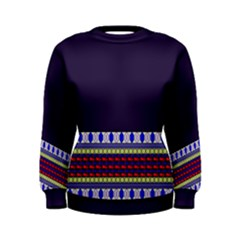 Purple Retro Geometric Pattern Women s Sweatshirt by DanaeStudio