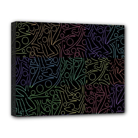 Colorful Pattern Deluxe Canvas 20  X 16   by Valentinaart