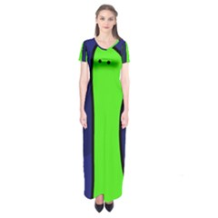 Green Snakes Short Sleeve Maxi Dress by Valentinaart