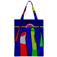 Colorful Snakes Zipper Classic Tote Bag by Valentinaart