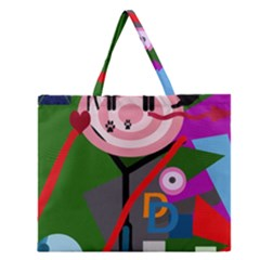 Party Zipper Large Tote Bag by Valentinaart