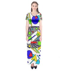 Find It Short Sleeve Maxi Dress by Valentinaart