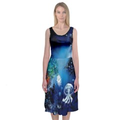 Ocean Midi Sleeveless Dress by flowerland