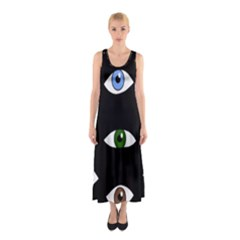 Look At Me Sleeveless Maxi Dress by Valentinaart