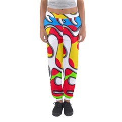 Colorful Graffiti Women s Jogger Sweatpants by Valentinaart