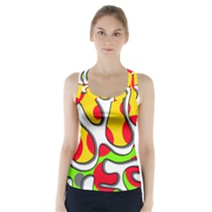 Colorful Graffiti Racer Back Sports Top by Valentinaart
