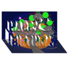 Daydream Happy Birthday 3d Greeting Card (8x4) by Valentinaart