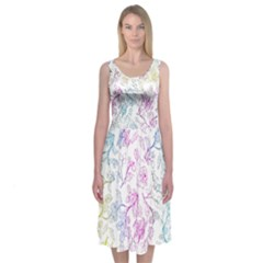 Psychedelic Nature Pattern Midi Sleeveless Dress by Contest2483978