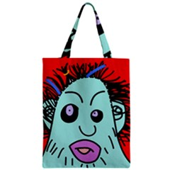 Caveman Zipper Classic Tote Bag by Valentinaart