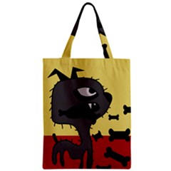 Angry Little Dog Zipper Classic Tote Bag by Valentinaart