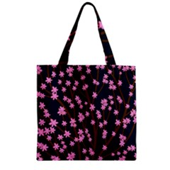 Japanese Tree  Zipper Grocery Tote Bag by Valentinaart