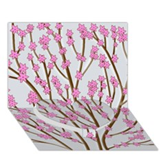 Cherry Tree Heart Bottom 3d Greeting Card (7x5)