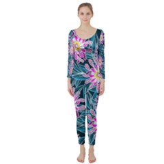 Whimsical Garden Long Sleeve Catsuit by DanaeStudio