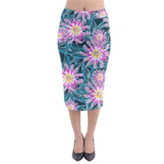 Whimsical Garden Midi Pencil Skirt by DanaeStudio